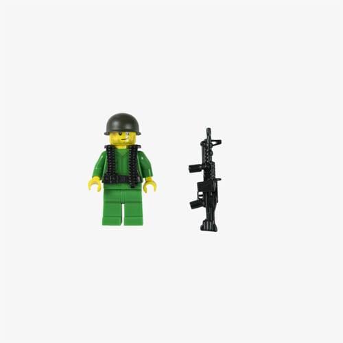 Lego Custom Grunt with M60 - New Jersey Vietnam Veterans