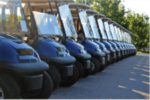 Golf social distancing measures include one golfer per cart